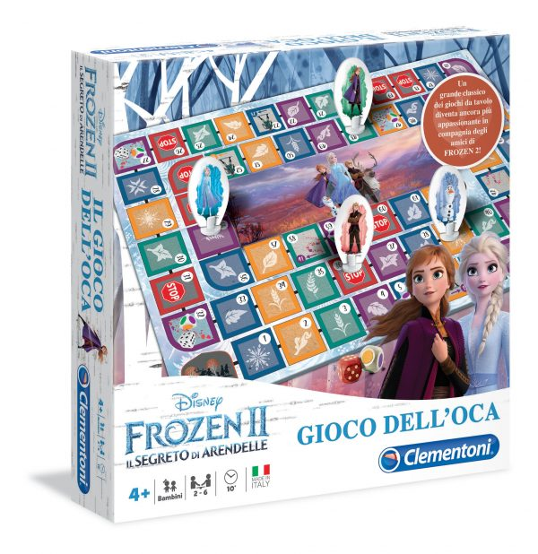 Clementoni  - 16179 - Il Gioco dell Oca Disney Frozen 2