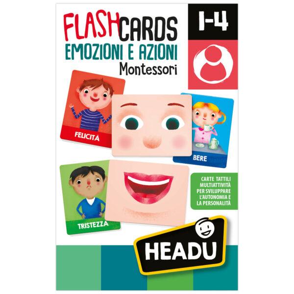 Headu Flashcards Montessori Emozioni e Azioni