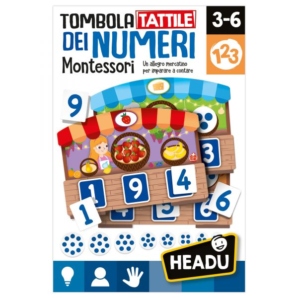 Headu Tombola Tattile Montessori dei Numeri