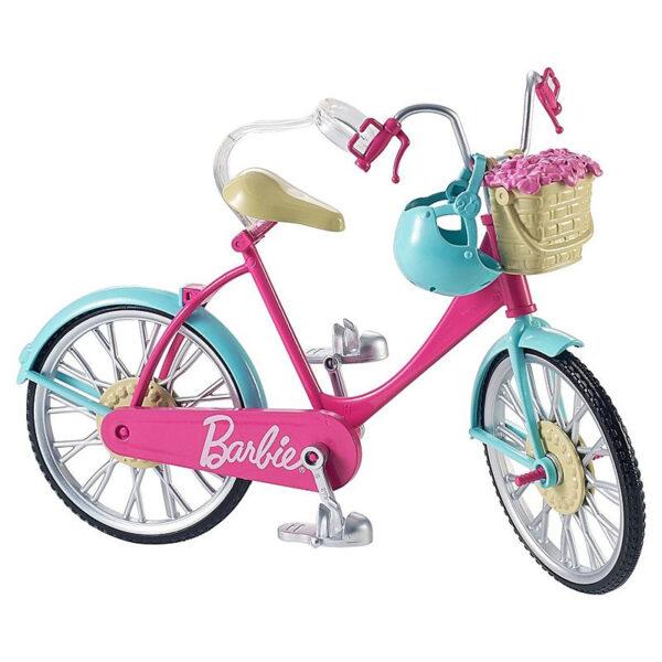 Barbie Bicicletta per Bambole con Casco e Accessori Barbie