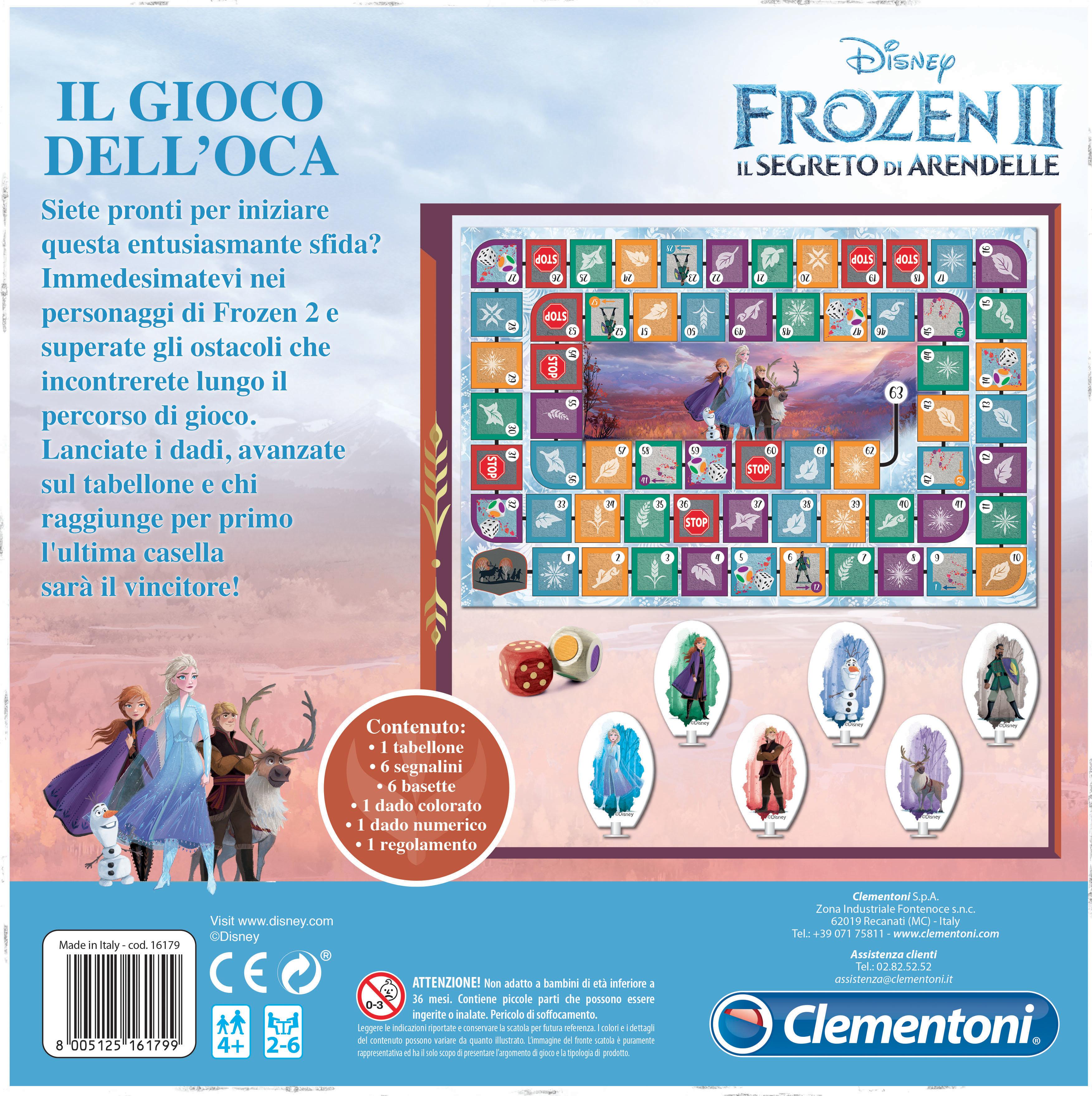 Clementoni  - 16179 - il gioco dell oca disney frozen 2 -