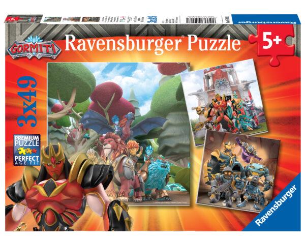 Ravensburger Puzzle 3x49 Pz Gormiti