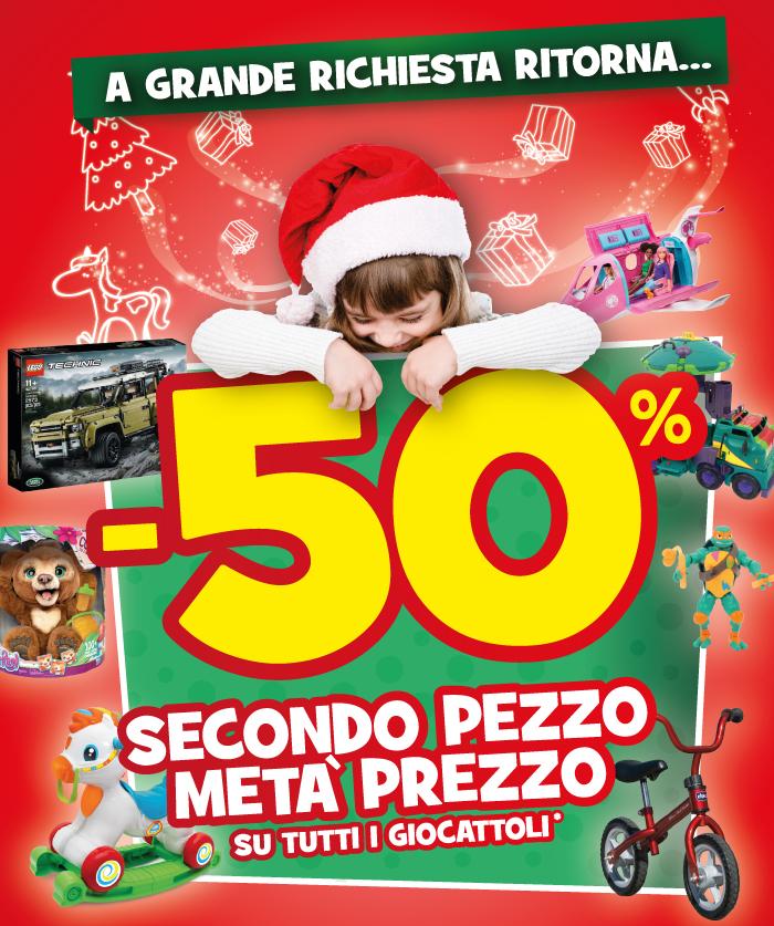 promo wow secondo pezzo metà prezzo Toys Center