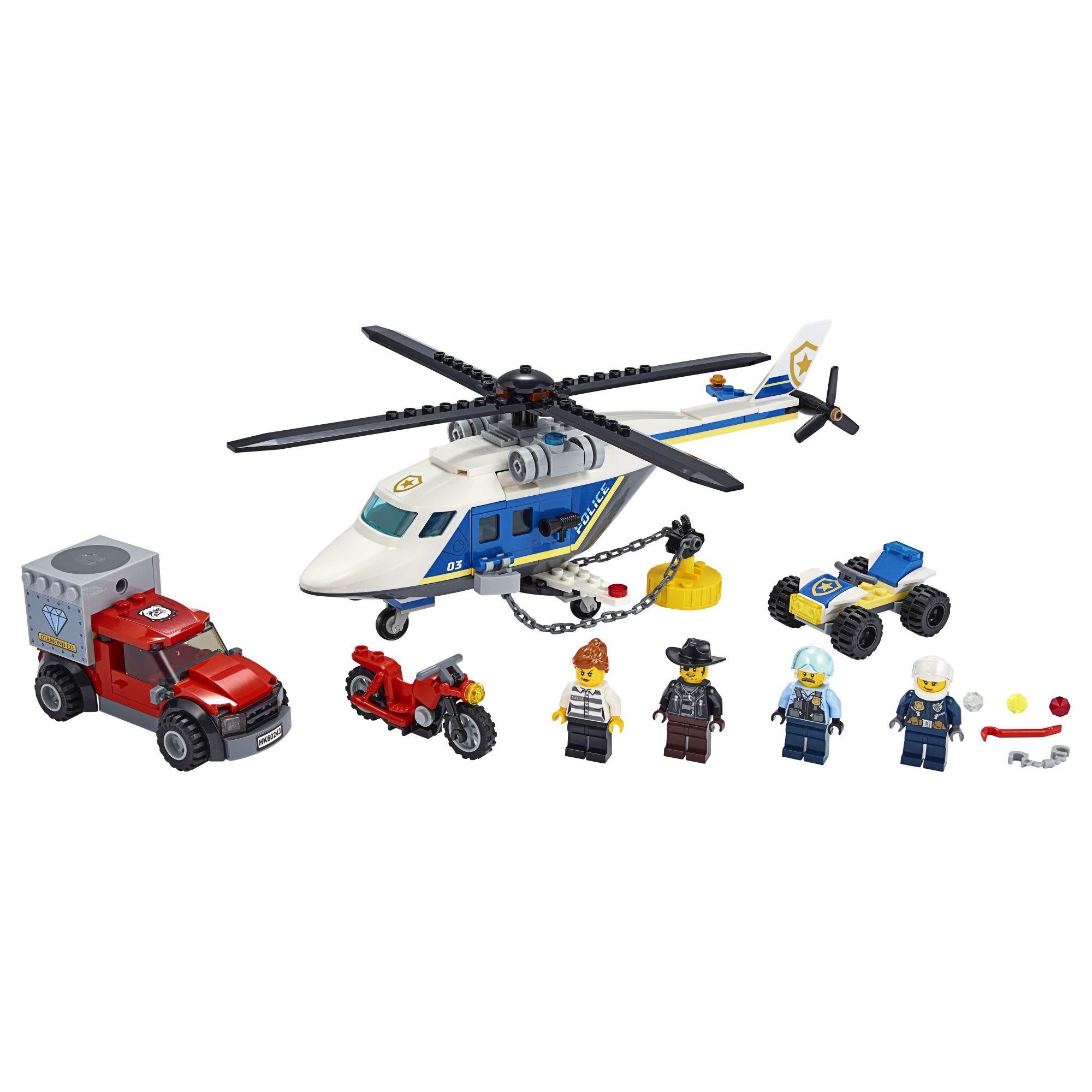 LEGO City Inseguimento sull'elicottero della polizia - 60243    LEGO CITY