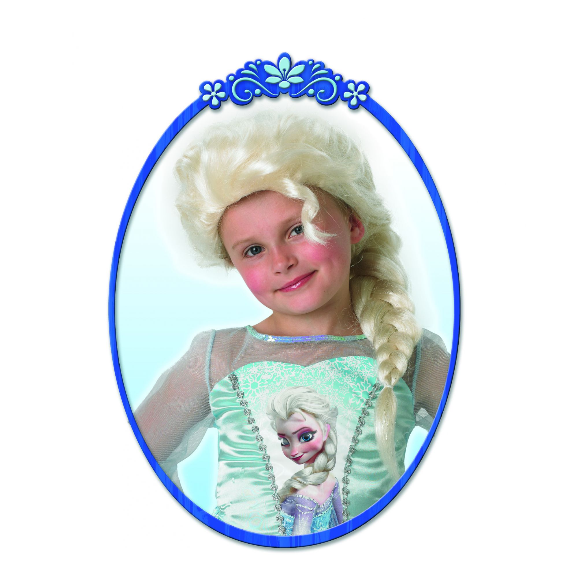 parrucca Frozen 2 Elsa bambina 3/7 anni