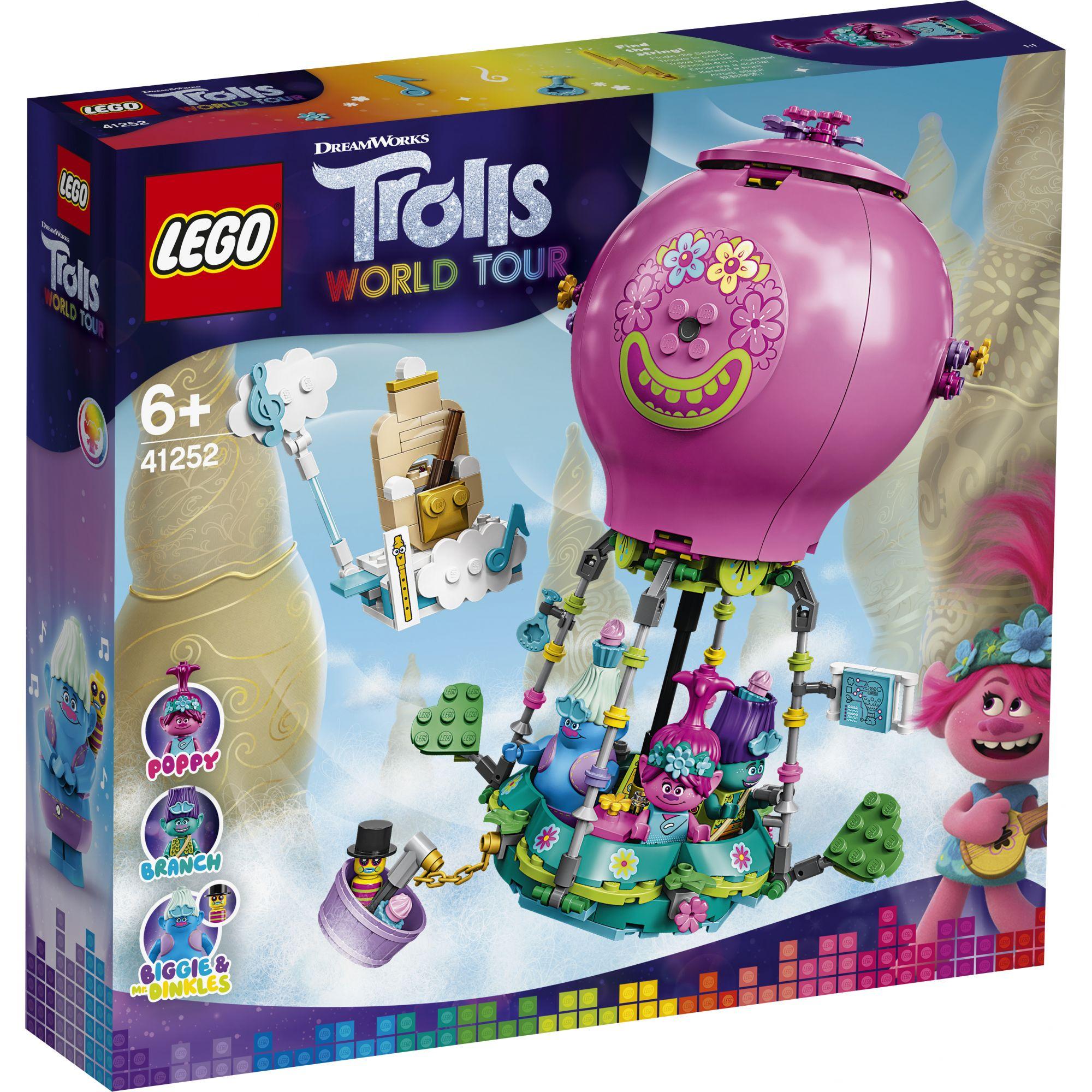 LEGO Trolls Avventura in mongolfiera di Poppy - 41252