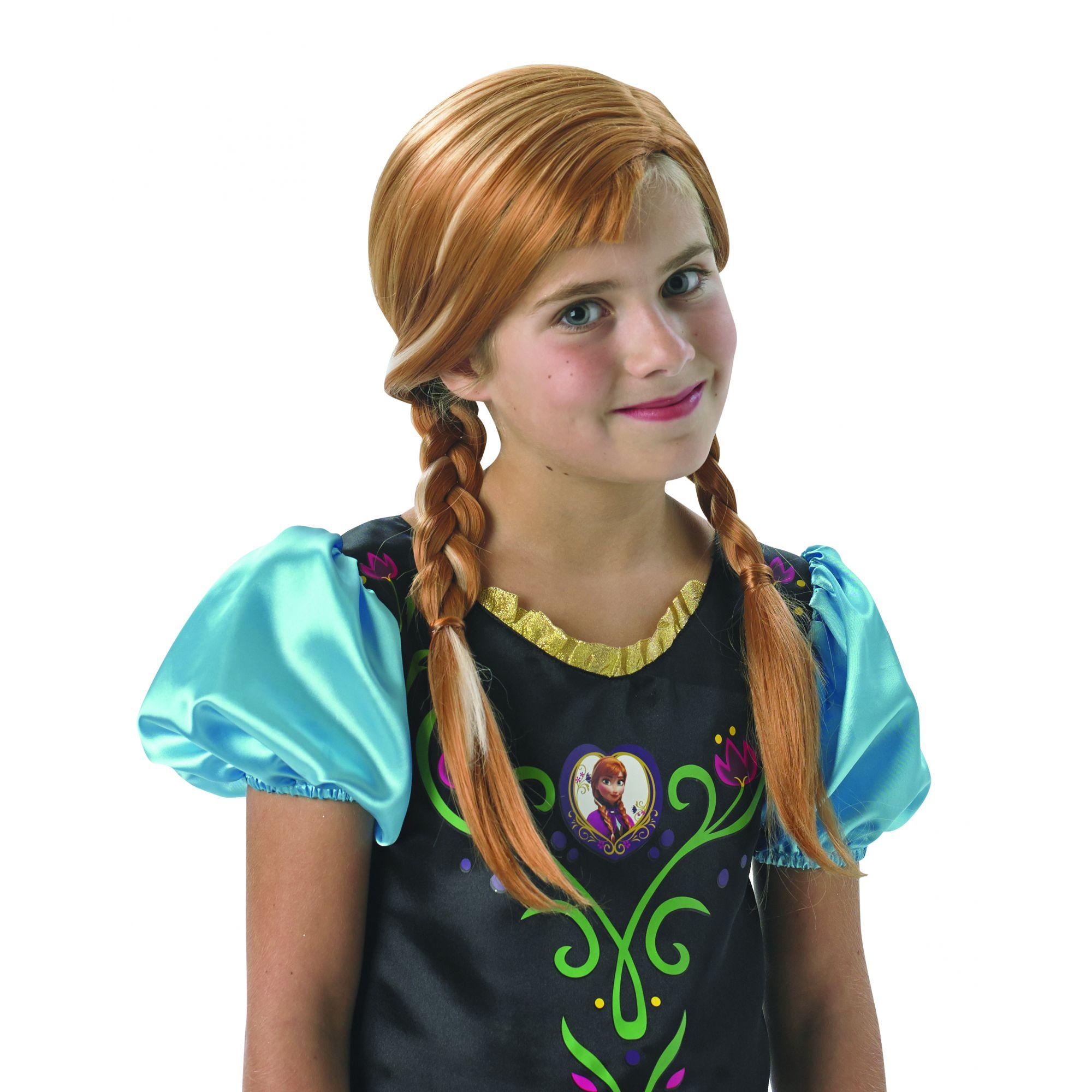 parrucca Frozen 2 Anna bambina 3/7 anni