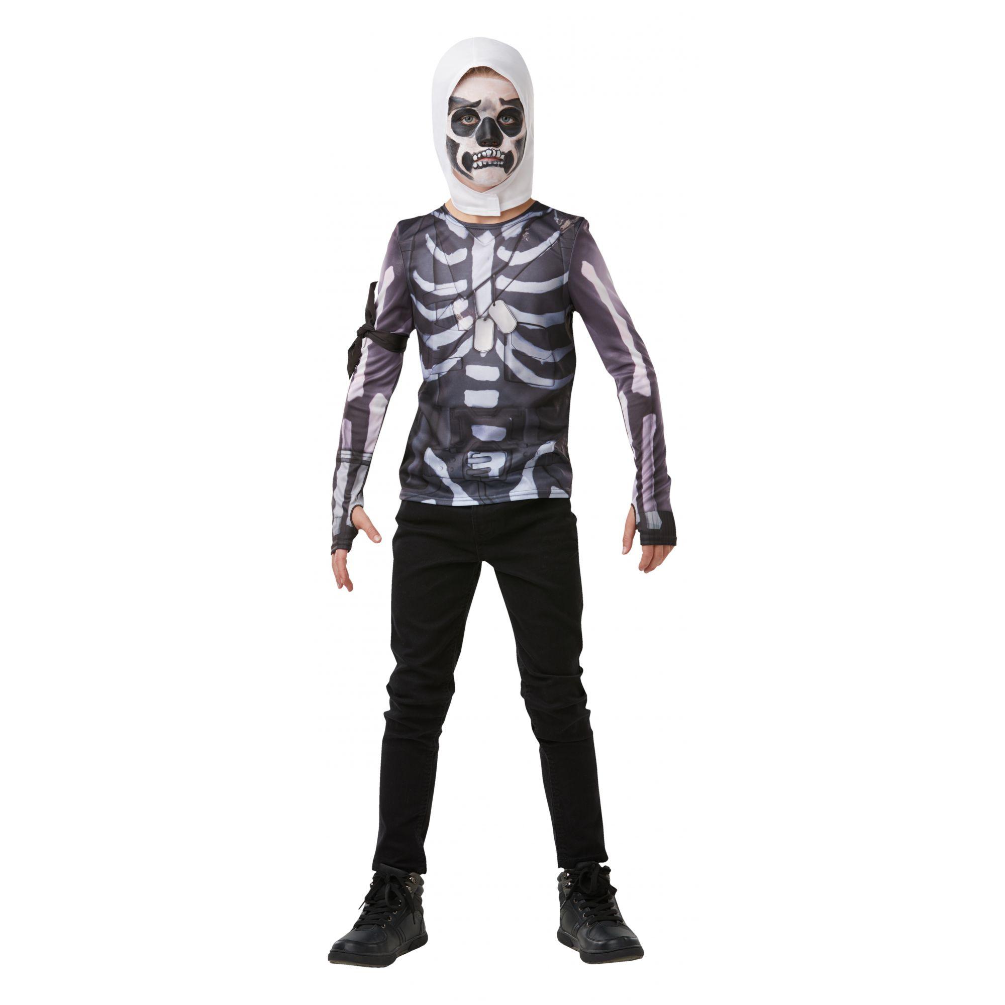 Costume Fortnite Skull Trooper ragazzo 9/10 anni