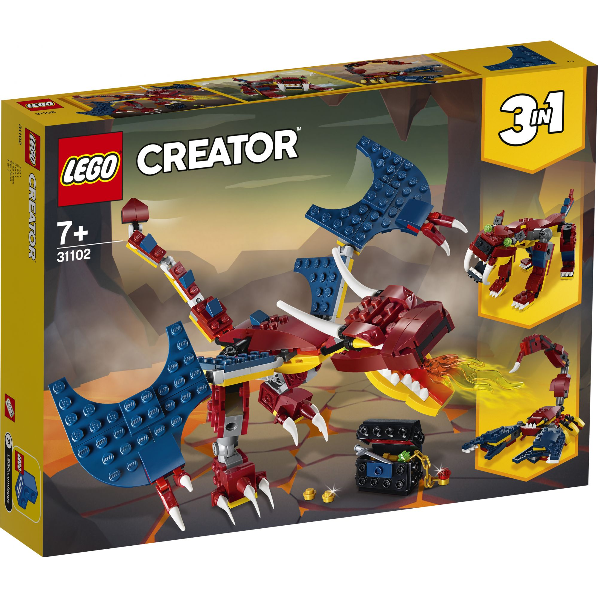 LEGO Creator Drago del fuoco - 31102 LEGO CREATOR
