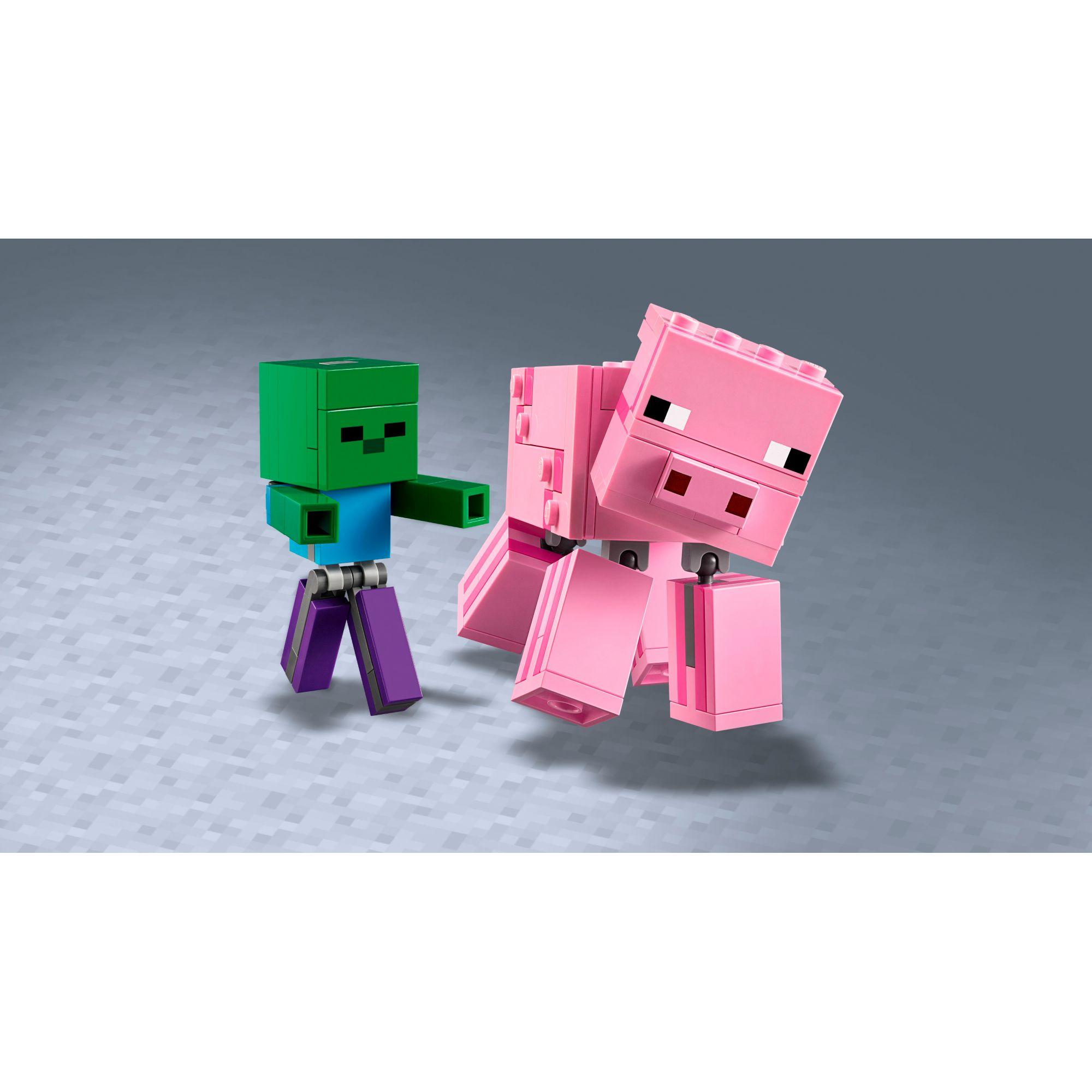 LEGO Minecraft Maxi-figure Maiale e Baby Zombi - 21157