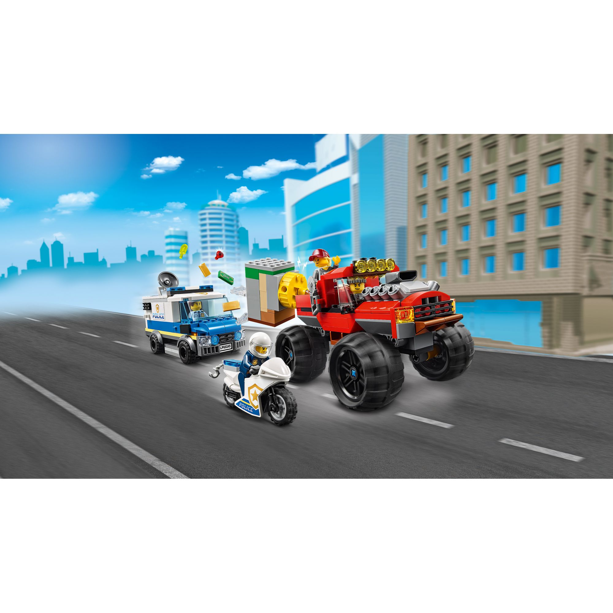 LEGO CITY   LEGO City Rapina sul Monster Truck - 60245