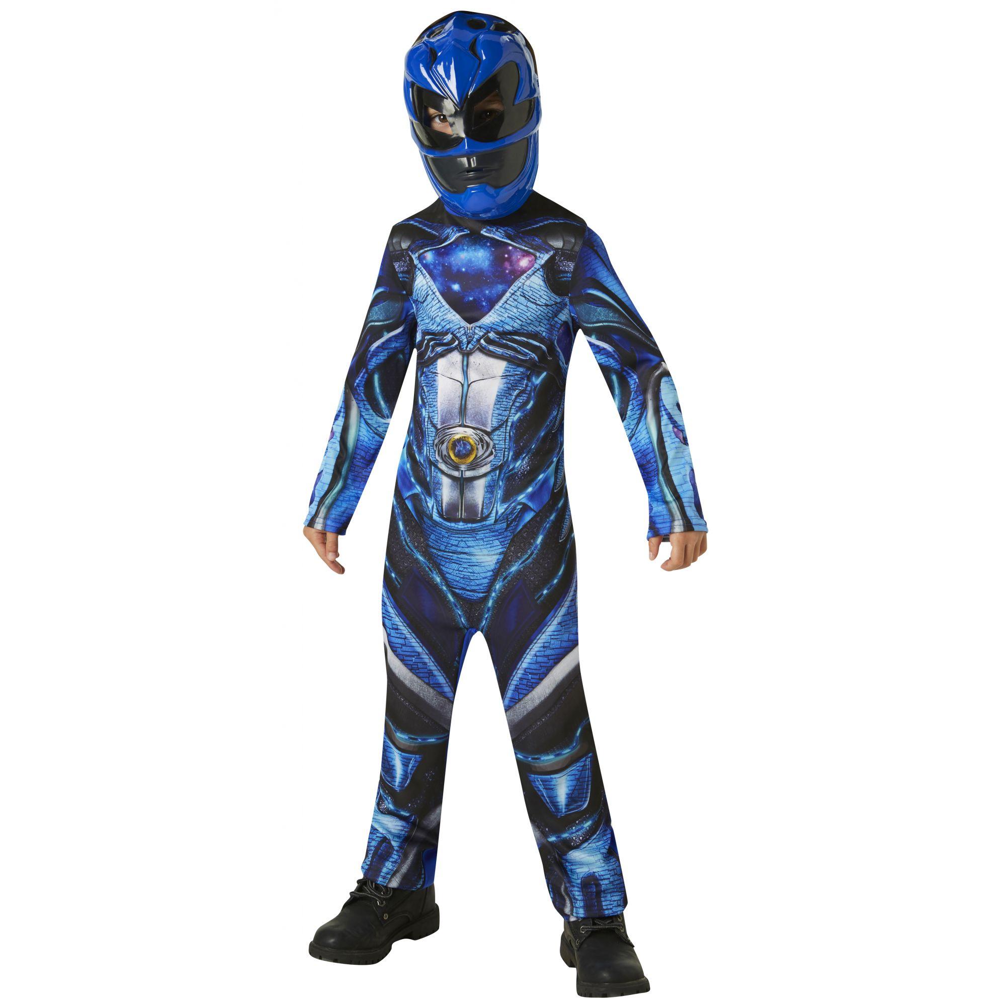 Costume Power Ranger blu bambino 7/8 anni