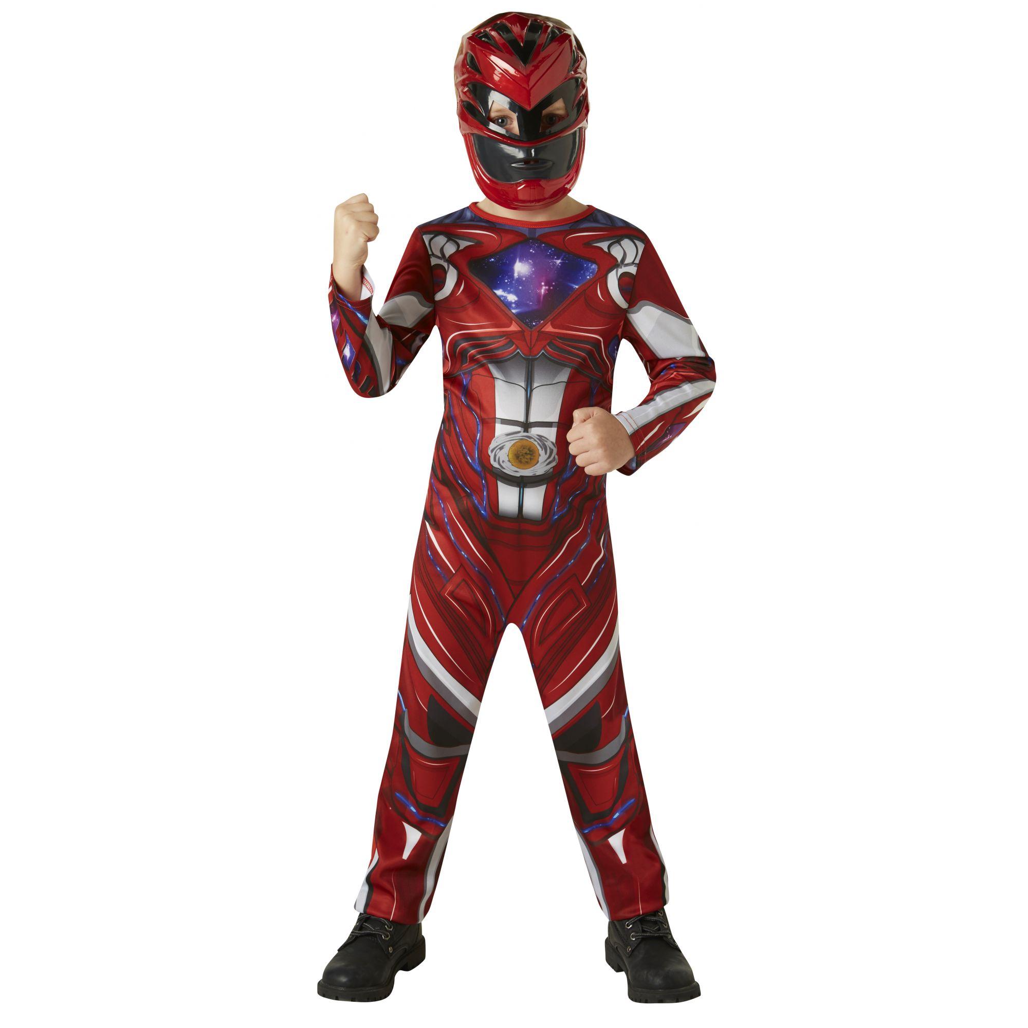 Costume Power Ranger rosso bambino 3/4 anni