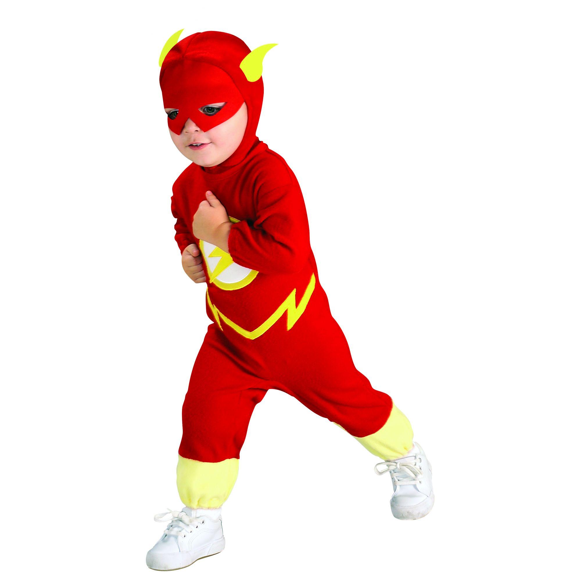 Costume DC comic Flash bambino 0/6 mesi