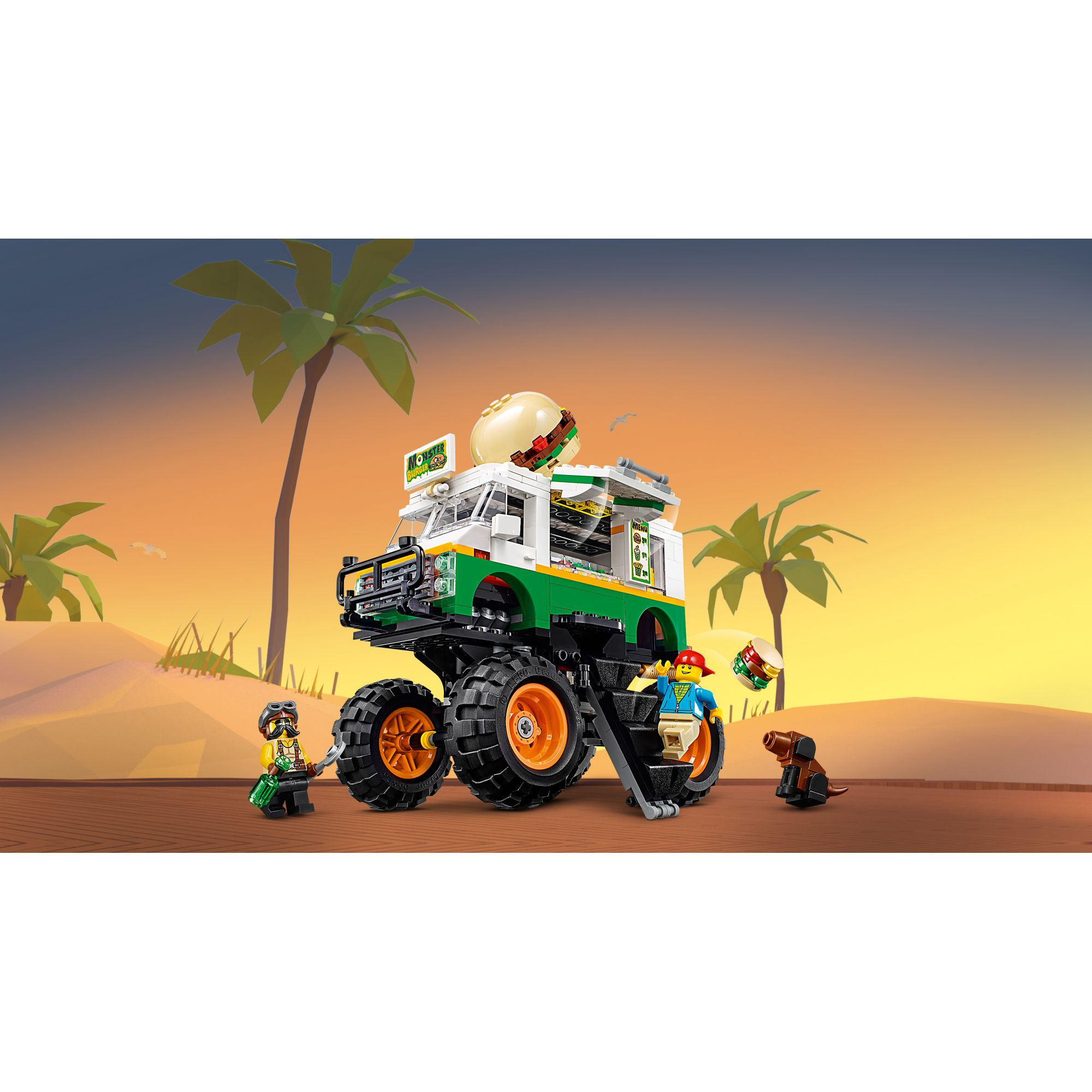 LEGO CREATOR   LEGO Creator Monster Truck degli Hamburger - 31104