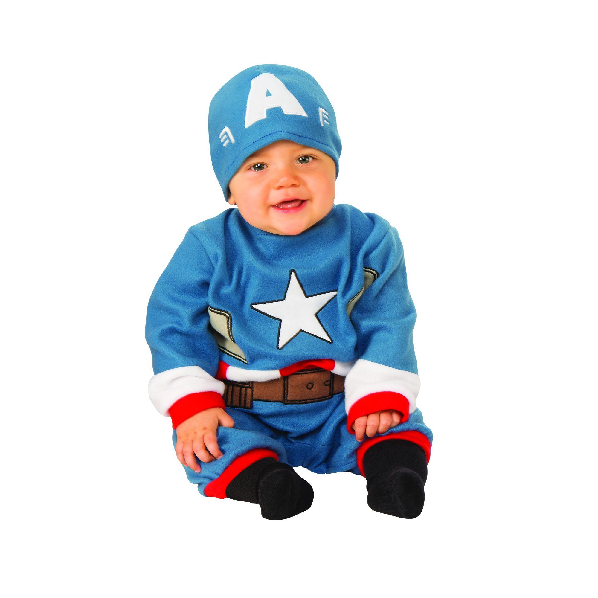 Costume Avengers Capitan America bambino 0/6 mesi