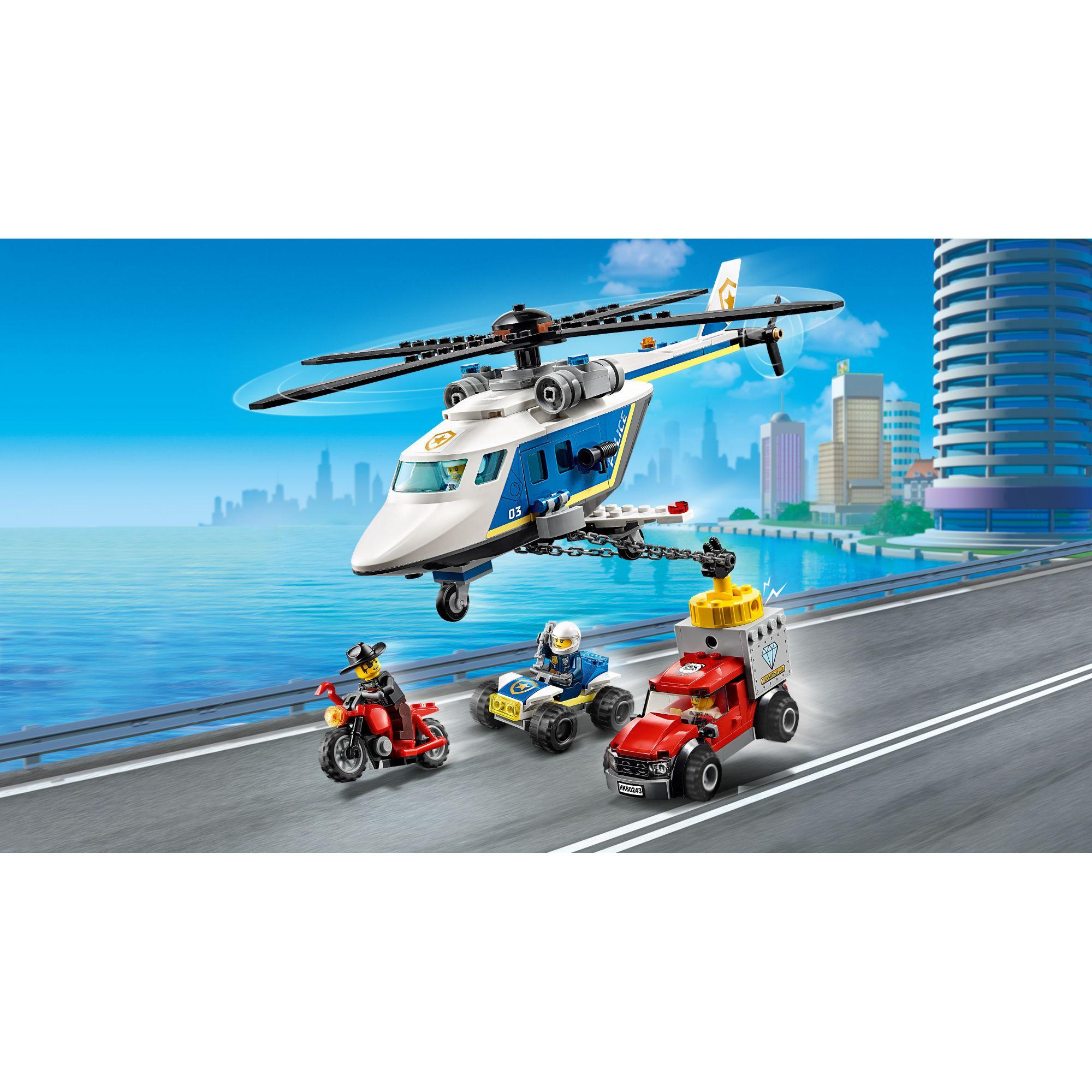 LEGO CITY  LEGO City Inseguimento sull'elicottero della polizia - 60243