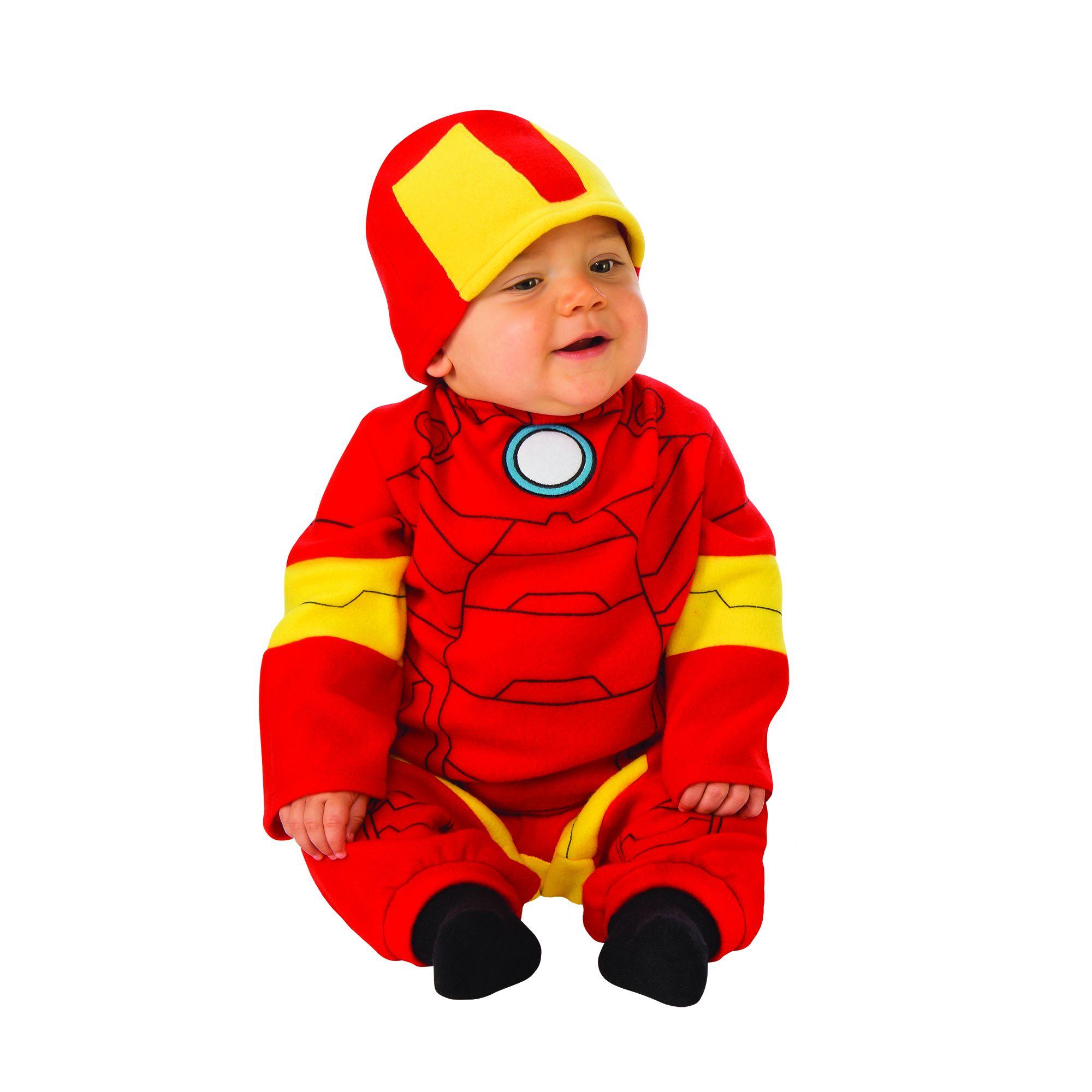 Costume Avengers Iron man bambino 6/12 mesi