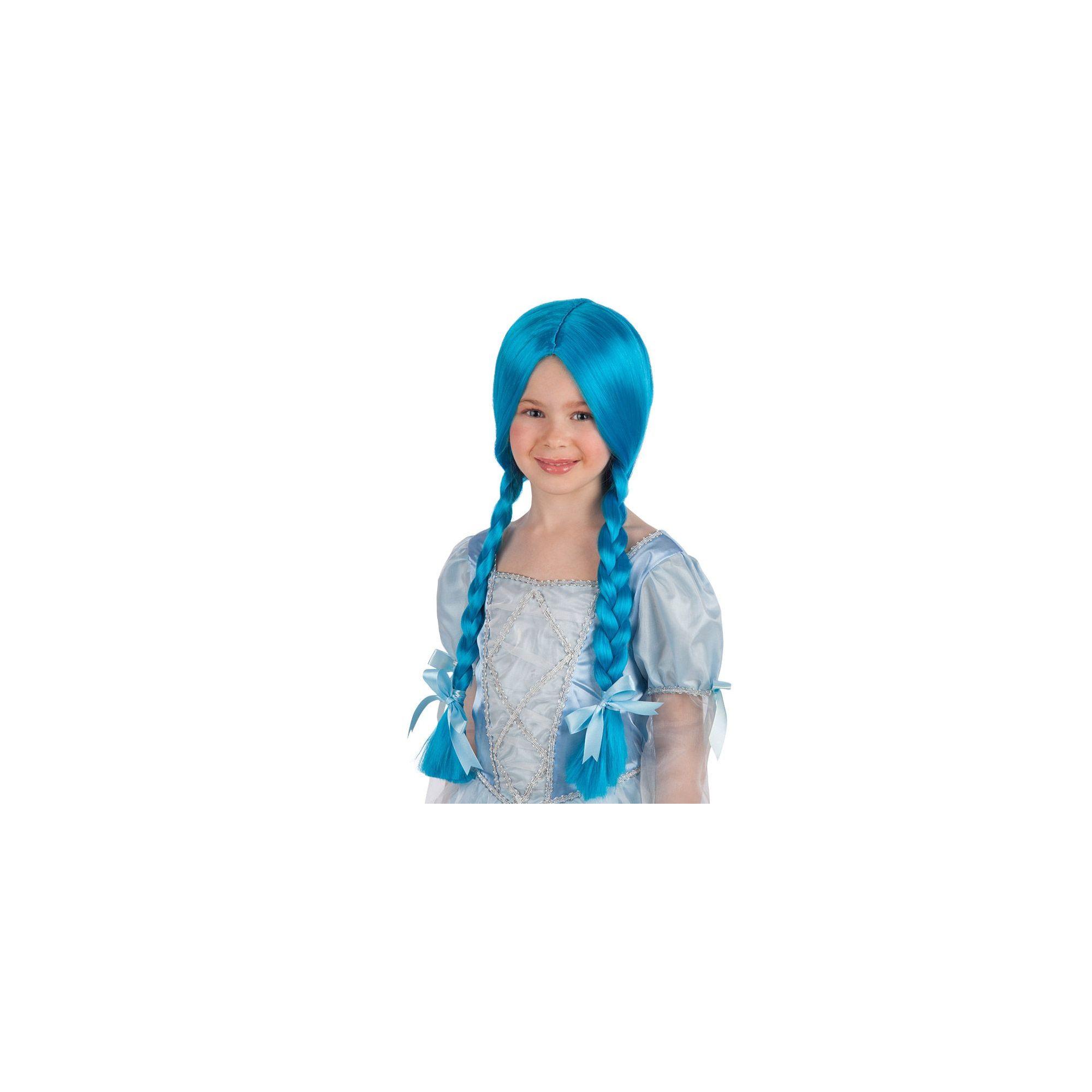Carnival Toys Parrucca Azzurra con Trecce