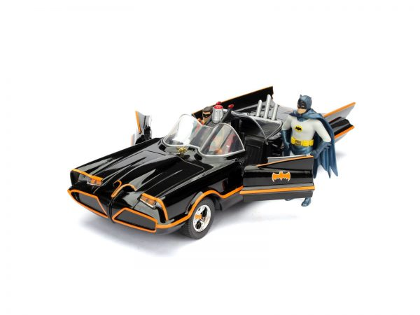 Batman 1966 Classic Batmobile 1:24 die-cast 30 cm