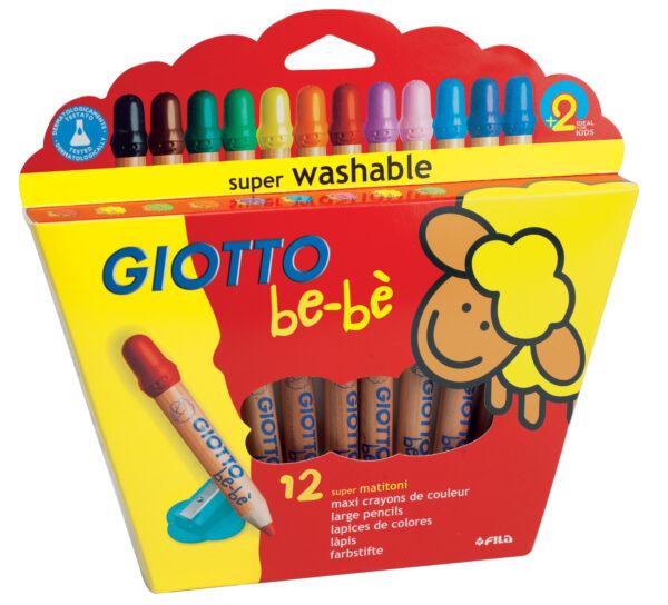 GIOTTO BEBE' Ast. 12 matitoni GIOTTO Unisex 0-2 Anni, 12-36 Mesi, 3-4 Anni, 3-5 Anni, 5-8 Anni ALTRI