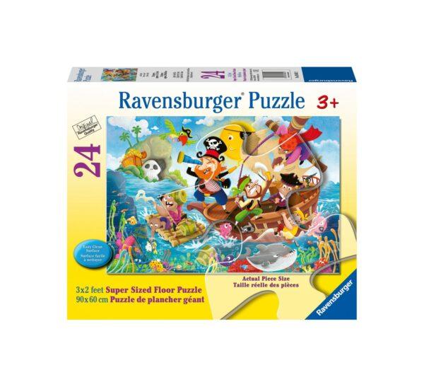 Ravensburger Puzzle 24 Giant Pavimento - Terra Ahoy!