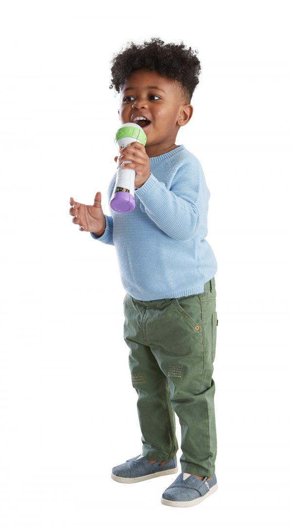 Fisher Price Microfono Baby Rock, Giocattolo per Imparare Cantando con 2 modalità di Gioco, Bambini 18 + Mesi, Multicolore Unisex 0-2 Anni, 3-4 Anni ALTRI FISHER-PRICE