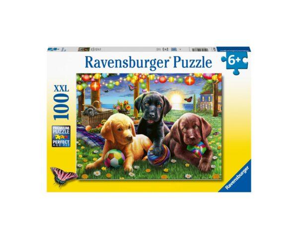 Ravensburger Puzzle 100 Pezzi XXL - Picnic Canino