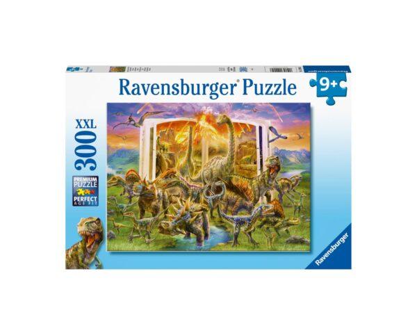 Ravensburger Puzzle 300 Pezzi XXL - Enciclopedia dei dinosauri