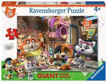 Ravensburger Puzzle 60 Giant Pavimento - 44 Gatti