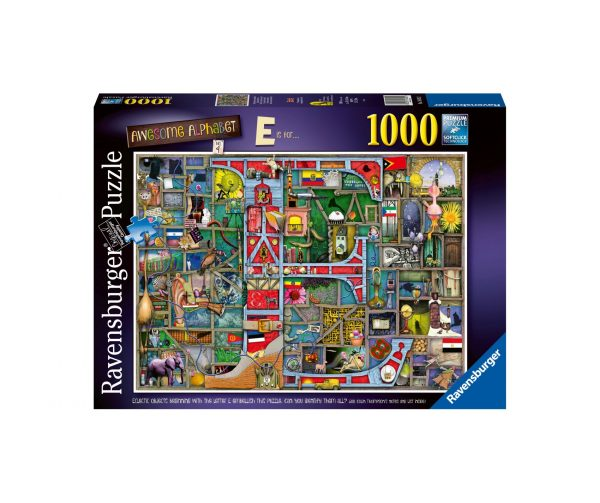 Ravensburger Puzzle 1000 Pezzi - Awesome Alphabet E & F