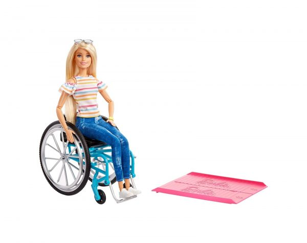 Barbie Fashionistas Bambola Bionda con Sedia a Rotelle Barbie