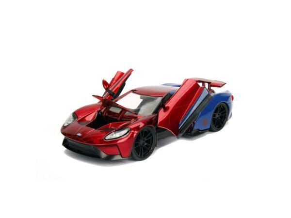 Spider-Man Ford GT 1:24 die-cast con personaggio