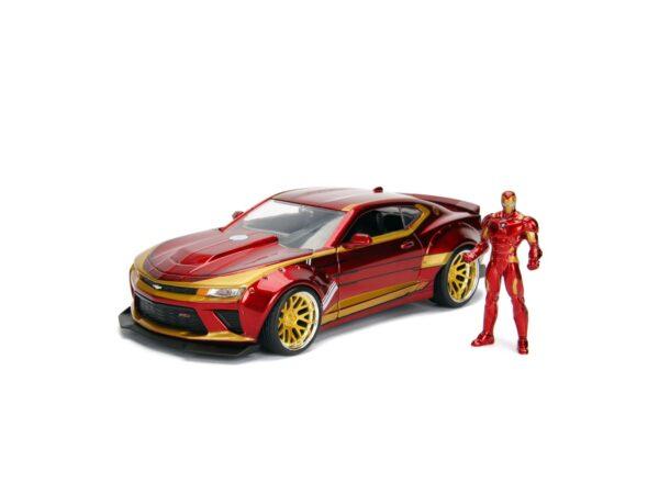 Iron Man Chevy Camaro SS 1:24 die cast con personaggio
