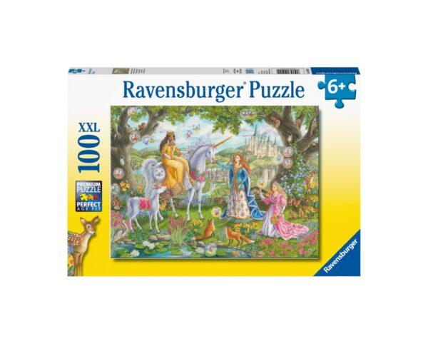 Ravensburger Puzzle 100 Pezzi XXL - Festa di principesse