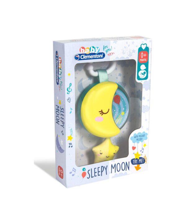 Clementoni - 17323 - Baby Clementoni For You - Sleepy Moon - Carillon musicale per culla neonato
