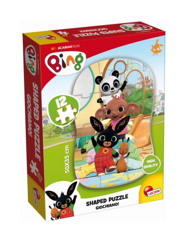 LISCIANI - BING MY FIRST SHAPED PUZZLE 12 - GIOCHIAMO!