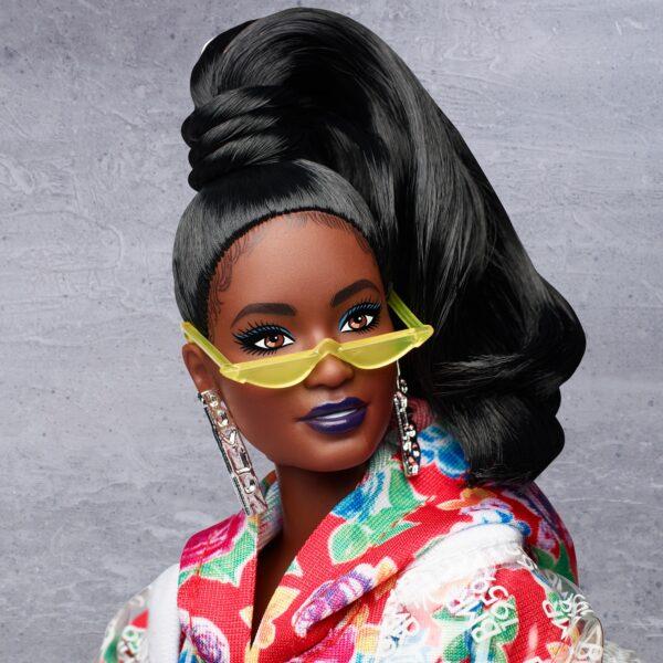 Barbie BMR1959 Bambola Afroamericana Snodata con Vestito Floreale    Barbie