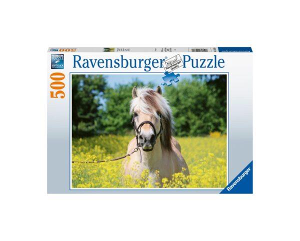 Ravensburger Puzzle 500 Pezzi - Cavallo Bianco