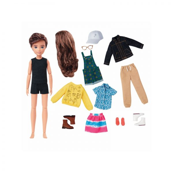 Mattel-Creatable World Deluxe Kit, Personaggio Personalizzabile con Accessori, 100 Combinazioni    creatable world