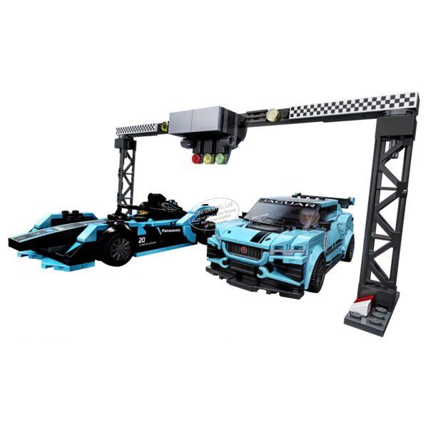 LEGO Speed Champions Formula E Panasonic Jaguar Racing GEN2 car & Jaguar I-PACE eTROPHY - 76898    Speed