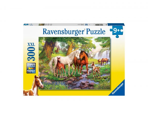 Ravensburger Puzzle 300 Pezzi XXL - Cavalli selvaggi al fiume