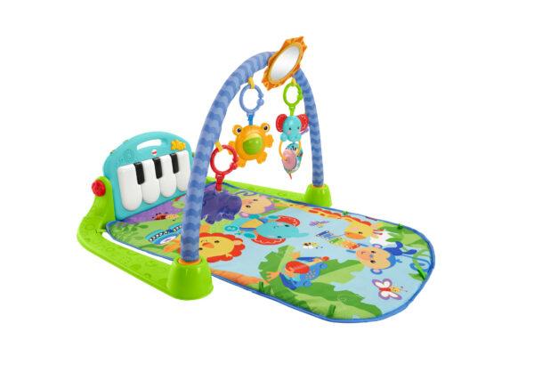 Fisher-Price Palestrina Baby Piano 4-in-1, Verde e Blu, Giocattolo per Neonati FISHER-PRICE Unisex 0-12 Mesi ALTRI