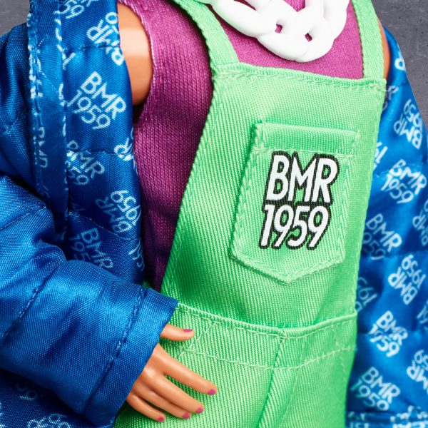 Barbie  Barbie BMR1959 Ken con Giacca e Tuta Fluorescente, Bambola Snodata