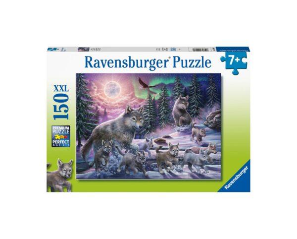 Ravensburger Puzzle 150 Pezzi XXL - Lupi del Nord