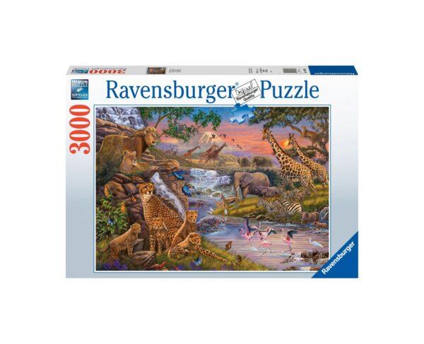 Ravensburger Puzzle 3000 Pezzi - Il regno animale