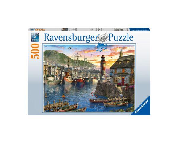 Ravensburger Puzzle 500 Pezzi - Alba al porto