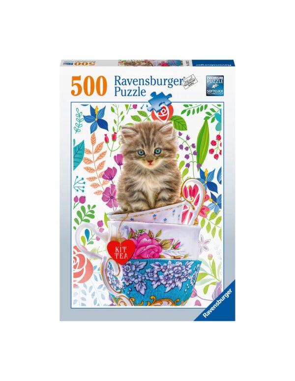 Ravensburger Puzzle 500 Pezzi - Gattino in tazza