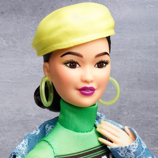 Barbie BMR1959 Bambola Snodata con Abito Fluorescente Barbie