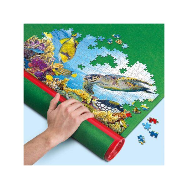 Clementoni - 30229 - Accessori puzzle - Rullo portapuzzle e tappeto